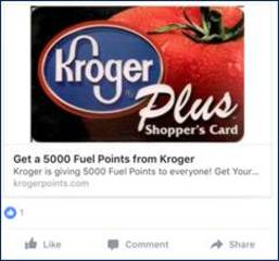 Survey claims to pay 5,000 Kroger fuel points