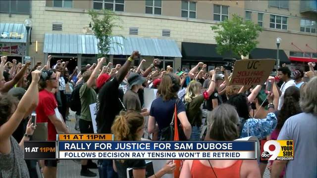 Groups rally Downtown- demand justice for Sam DuBose