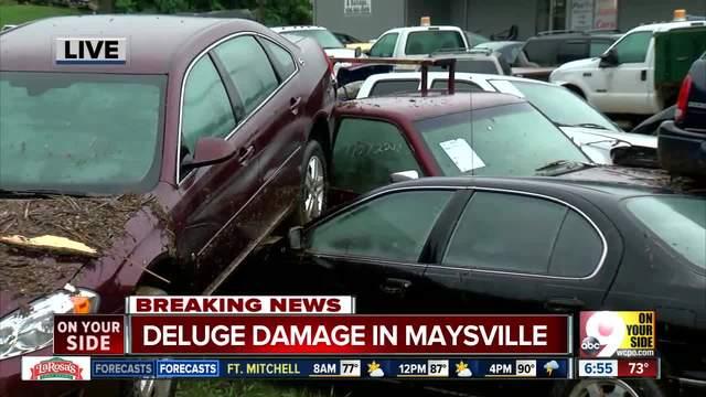 Heavy rain floods part of Maysville- Kentucky