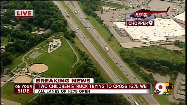 Two children struck trying to cross I-275