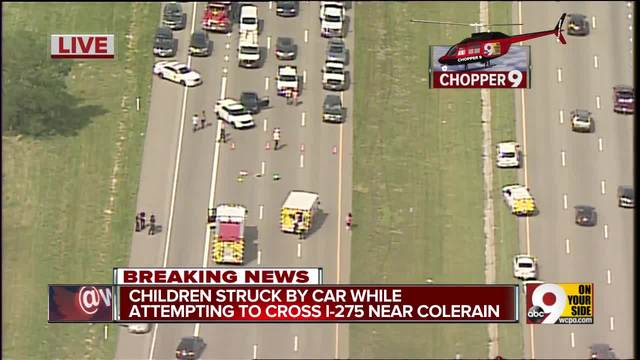 Children hit while trying to cross I-275