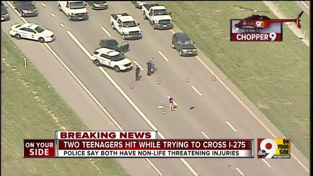 Two teenagers hit while trying to cross I-275