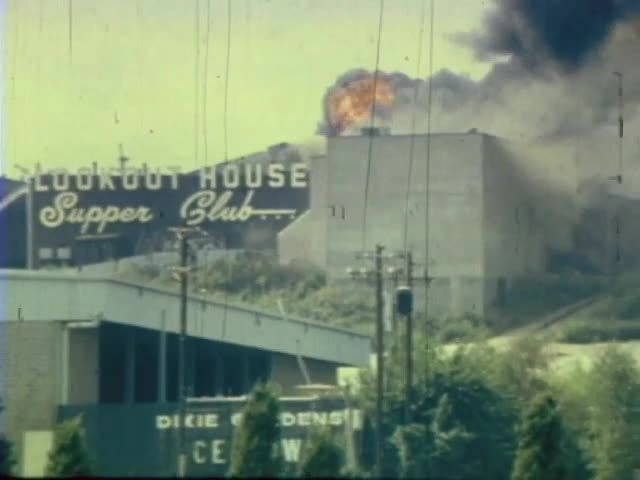 Lookout House Supper Club destroyed by fire in 1973
