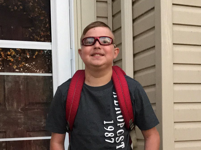 Boy who received new heart dies on first day of school