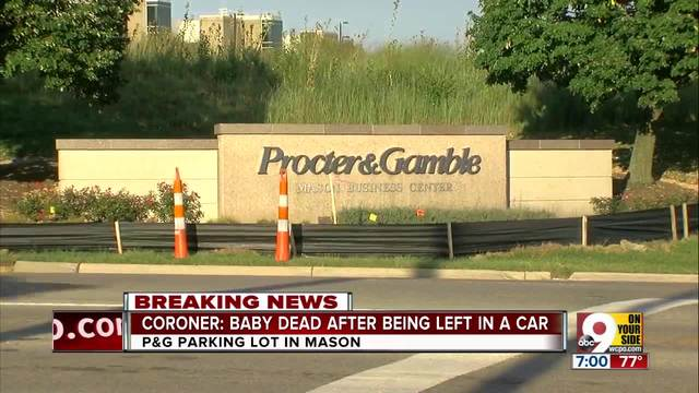 Baby found dead in vehicle parked in P&G employee lot in Ohio