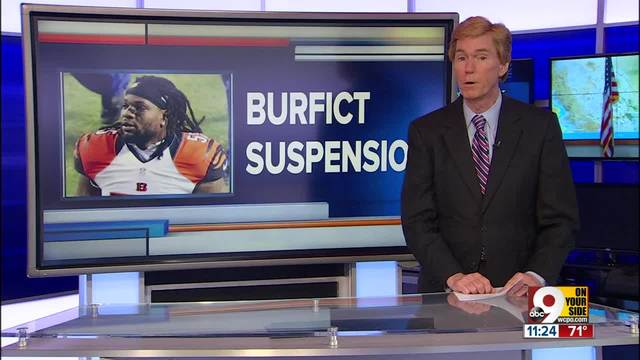 Noted dirty player Vontaze Burfict suspended 5 games for dirty hit