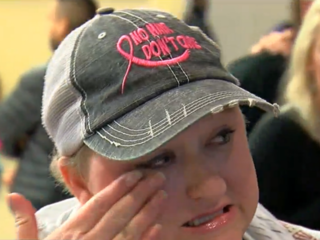 Cancer patient stranded by Harvey welcomed home