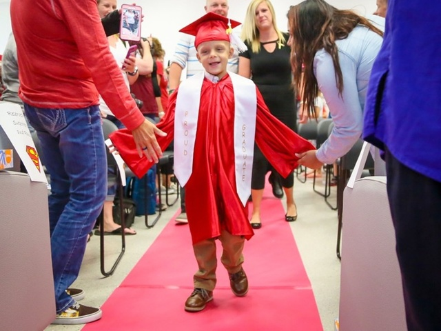 Fairfield kid 'Superbubz' gets HS diploma