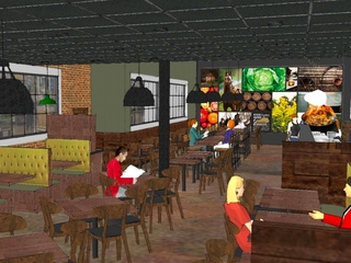 Kroger's first restaurant will look like this