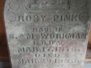 PD looking for family of girl who died in 1883