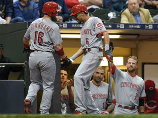 Brewers' hopes take a hit in 6-0 loss to Reds