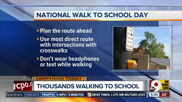 Students Take A Stroll For Walk To School Day