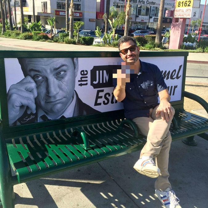 Street Artist Mocks Jimmy Kimmel as