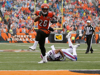 Does it feel icky to celebrate Mixon's first TD?