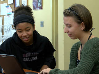 Student journalists covering mayor election