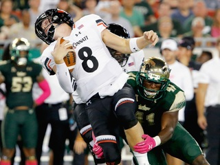Bearcats fall to South Florida 33-3