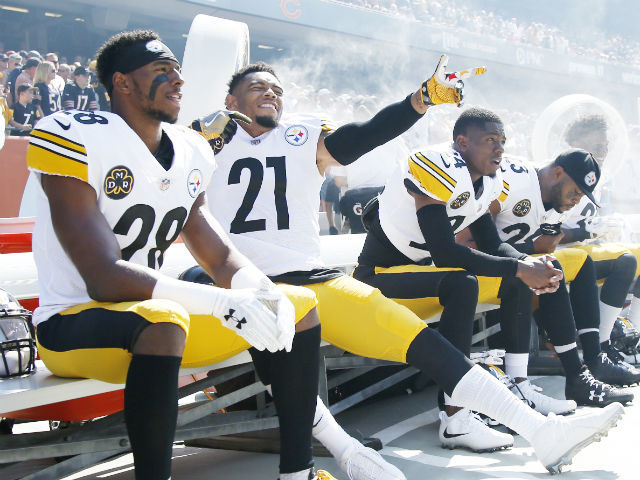 44cab9d82 ... IL - SEPTEMBER 24 Sean Davis 28 and Joe Haden 21 of the Pittsburgh Nike  ...