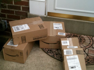 Amazon Flex driver tosses holiday gift