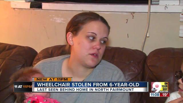 Thief steals 6-year-old-s wheelchair