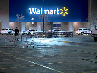 Someone torched pants inside Walmart, police say