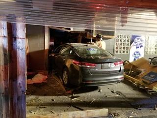 Patron: Crash into sports bar was intentional