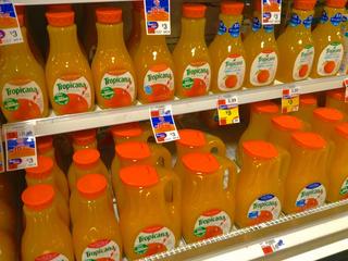 Tropicana shrinks size of orange juice jugs