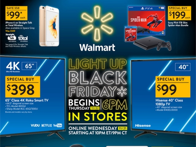 Walmart Releases 2018 Black Friday Ad Includes Savings On 4k Tvs Fitbits Xboxes And Ps4s