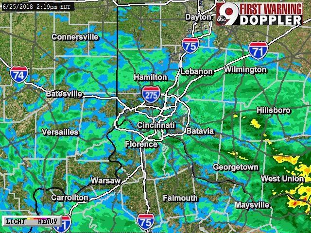 cincinnati  ohio weather forecast  radar map