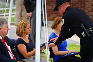 PHOTOS: Officer Ellis remembered at memorial