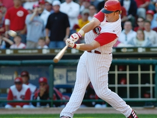 Broo: Adam Dunn delivered during time with Reds
