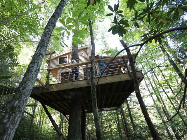 Treehouse Rentals Indiana Part - 26: Django Kroner, Founder Of The Canopy Crew, Is Working To Build A Tree House  Village In The Red River Gorge With The First Tree House To Be Finished And  ...