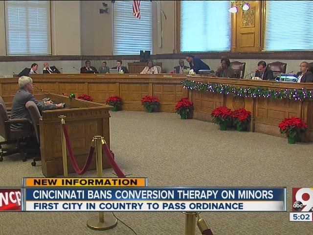 Cincinnati bans conversion therapy on minors
