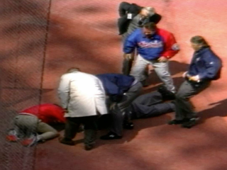 Vault: Umpire dies on field on Opening Day