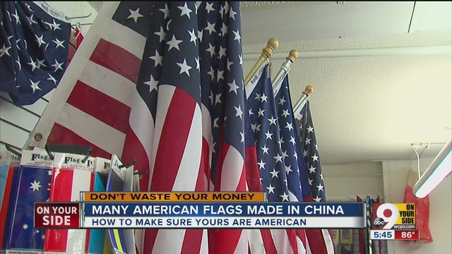 Why are american flags still made in china wcpo cincinnati oh publicscrutiny Choice Image