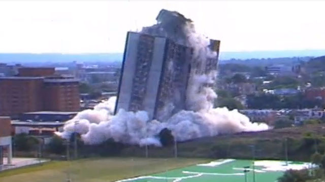From The Vault: Sander Hall Implosion Brought 27 Story University Of Cincinnati  Dorm To Its Knees   WCPO Cincinnati, OH Part 38