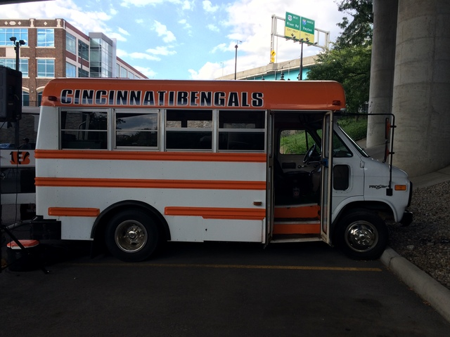 Sam Huffmans Custom Bengals Party Bus Provided