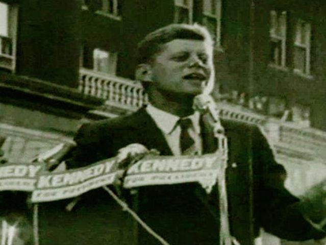 John Kennedy mispronounces Cincinnati during 1960 campaign speech downtown