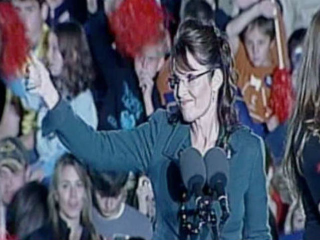 Sarah Palin rallies local Republicans two days before 2008 election.