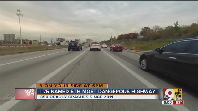 I 75 ranked among deadliest highways in us report says wcpo i 75 ranked among deadliest highways in us report says publicscrutiny Choice Image