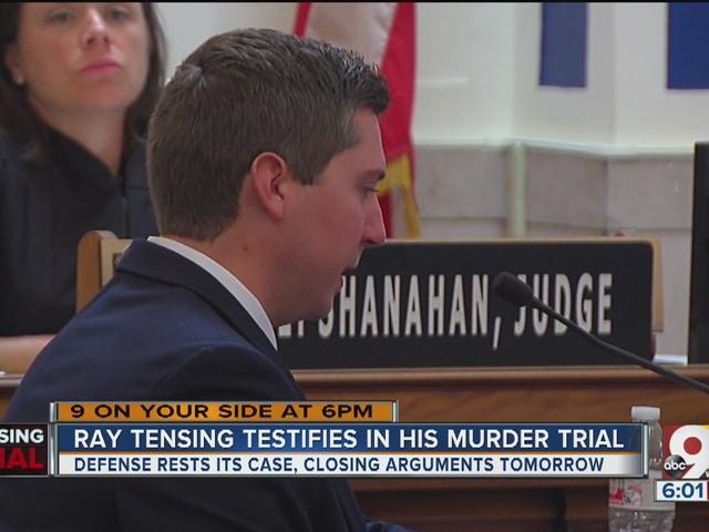 Ray Tensing testifies in his murder trial