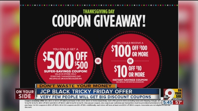 JC Penney Will Give Shoppers A Coupon For 10 Off 100 Or 500 But That Offer Comes With Catches