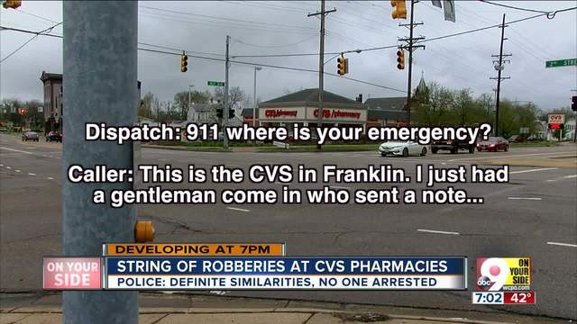 police believe culprits in cvs robberies could be working together