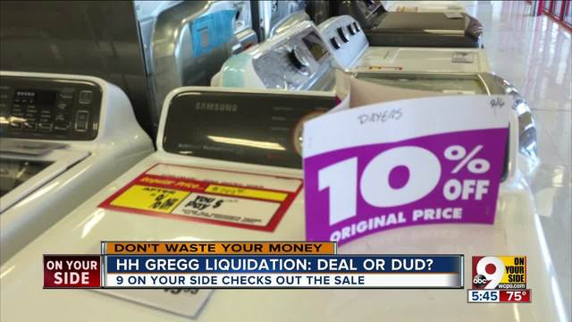 Hh gregg liquidation deals or duds wcpo cincinnati oh colourmoves