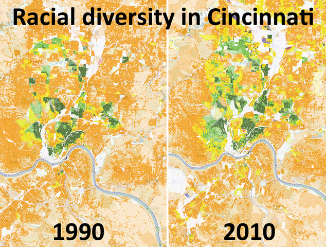 University of Cincinnati develops map that details racial diversity