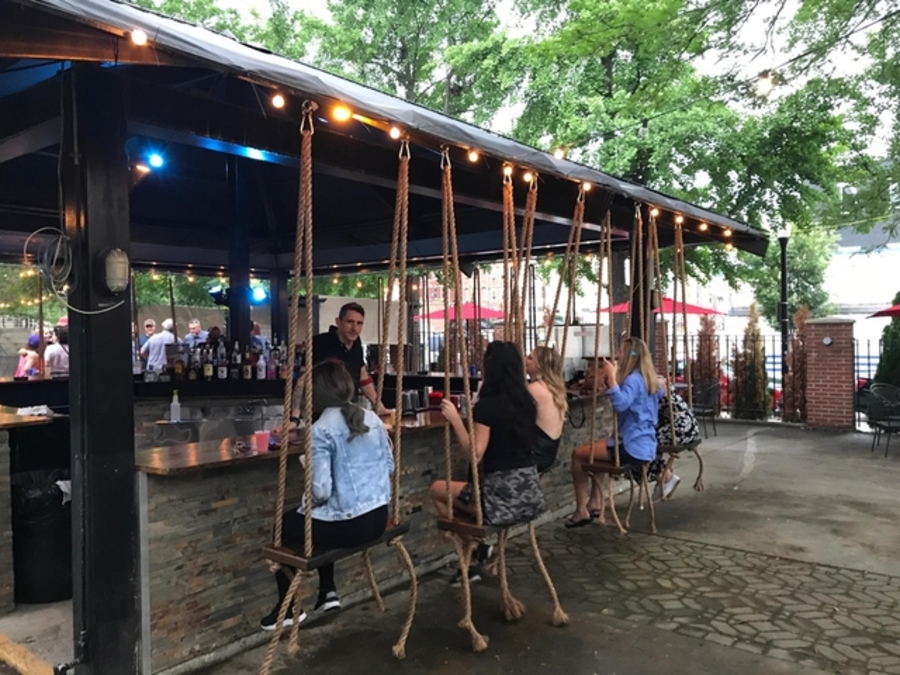 See inside Over-the-Rhine\'s Treehouse Patio Bar - Gallery