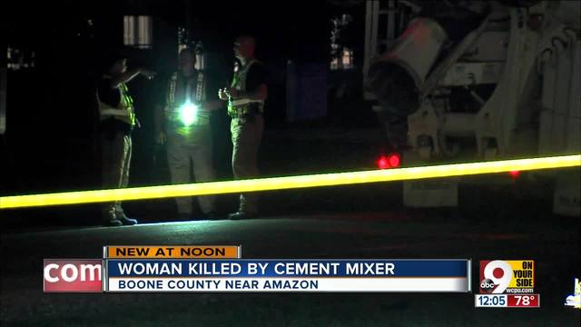 amazon worker struck and killed by cement truck on way to parking