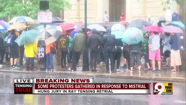 Protesters gather in response to Ray Tensing mistrial