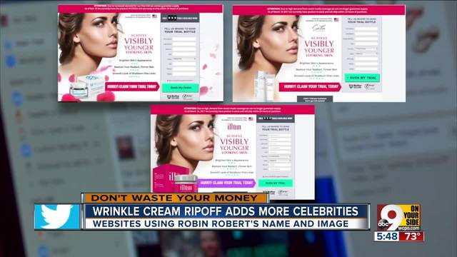 ABC's Robin Roberts used in wrinkle cream ripoff - WCPO ...