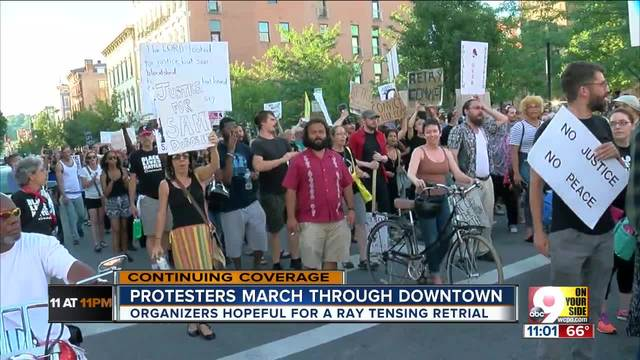 Demonstrators demanding third trial for Ray Tensing hold peaceful march…
