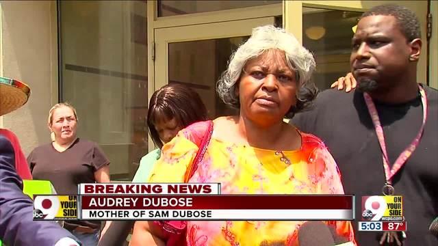 Audrey DuBose- demonstrators demand -Justice for Sam-